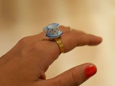 DIY: teacup ring