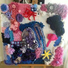 #tekoop #forsale Artwork by Gerda van Asperen. #haken #koraal #zeelandschap