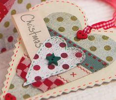 Scandi Homespun Hanging Heart & Card