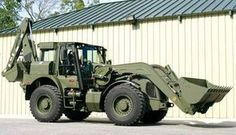 JCB military backhoe Heavy Construction Equipment, Heavy Equipment, Army Vehicles, Armored Vehicles, Homemade Tractor, Military Engineering, Caterpillar Equipment, Armored Truck, Heavy Machinery
