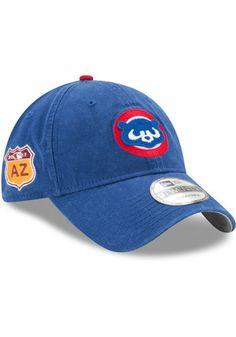 New Era Chicago Cubs Blue Spring Training BP 2019 9TWENTY Adjustable Hat 4811105252f5