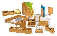 Wedo Bambus - Organizador de material de escritorio (Con 11 compartimentos), marrón: Amazon.es: Oficina y papelería