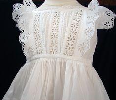 Maria Niforos - Fine Antique Lace, Linens & Textiles : Antique Christening Gowns & Children's Items # CI-105 Lovely 19th C. Child's Dress w/ Broderie Anglais - marianiforos.com