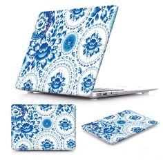 Vintage pattern with blue flowers and leaves Basil's Cathedral in winter Crystal Hard Case For Macbook Air 11 12 13 Mac Book Pro 13'' 15'' Retina Russia http://www.redbubble.com/people/ekaterinap/works/12730198-vintage-pattern-with-blue-flowers-and-leaves?p=laptop-skin&type=macbook_pro_retina_15