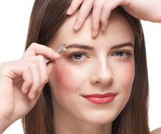 Easy Way To Shape Your Eyebrows  When I was high school, I tweezed the heck out of my eyebrows because that was the thing to do. I had super thin brows with a shape that didn't flatter my face at all. I remember looking in the mir...