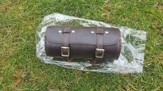 Handcrafted Leather Round Bike Bag for most bikes stylish bicycle bag Dark Brown #Unbranded