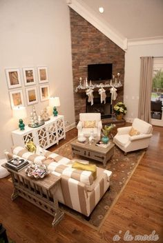 Love this floor, that fireplace, & the whole holiday feel of this room. #LLatHome #LumberLiquidators