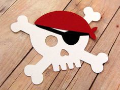 3 Skull & Crossbones Die Cuts set of 3 by HelloSunshi Decoration Pirate, Pirate Party Decorations, Deco Pirate, Pirate Theme, Pirate Birthday, Boy Birthday, Birthday Parties, Pirate Crafts, Childrens Party
