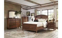 Burkesville Panel Bedroom Set Ashley Furniture Store- also has panel bed with storage and chest of drawers
