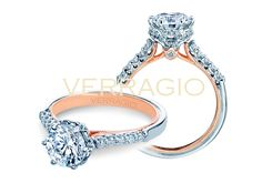 GORGEOUS.  Classic-938R7-TT engagement ring from of diamond engagement rings by Verragio