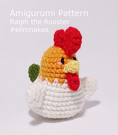 This is amigurumi pattern for Ralph the Rooster which is in Adobe PDF format. ✿⊱╮Teresa Restegui http://www.pinterest.com/teretegui/✿⊱╮