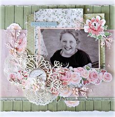 """Love Your Smile - Kaisercraft """"Rose Avenue"""" collection Scrapbook Albums, Scrapbooking Layouts, K Rose, Love Your Smile, Creative Colour, Projects To Try, Card Making, Arts And Crafts, Cards"""