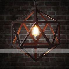 50cm Large Cage Industrial Vintage Chandelier Loft Pendant Ceiling Light Lamp | eBay