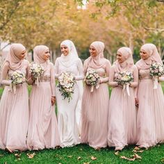 ✨mashallah mabrouk to this lovely bride! Hijab styling by the amazing @hijabsbyrasha | photography @jadeberberphotography | makeup @milanijoymakeup | dress @norma_and_lili_bridalcouture #muslimfashion #modestfashion #muslimbride #modestbride #bridesmaids