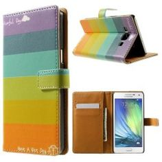 Samsung A5 Flip case, cover, hoesje Colorfull