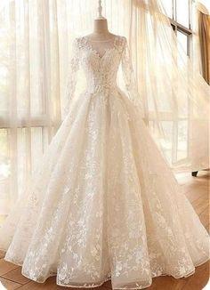 Wedding Dress Sleeves, Long Wedding Dresses, Long Sleeve Wedding, Bridal Dresses, Lace Dress, Dresses With Sleeves, Tulle Wedding, Event Dresses, Dresses Dresses