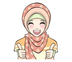 Sweet Hijab Girl - Creators' Stickers