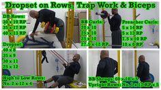 Dropset on Rows, Trap Work & Biceps: https://youtu.be/YLbiRokjjhA
