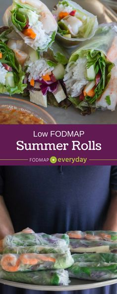 Summer Rolls can easily be made low FODMAP. Here, Ngoc Doan shows us how her Mom taught her - with a few variations. Learn to thrive at FODMAP Everyday! Fodmap Recipes, Low Calorie Recipes, Diet Recipes, Healthy Recipes, Fodmap Diet, Low Fodmap, Fodmap Foods, Stuffed Peppers With Rice, Healthy Snacks