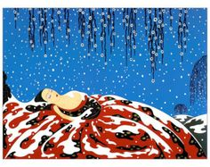 Lady in the Snow hand cut wood wooden jigsaw puzzle