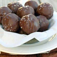 Salted Caramel Brownie Truffles