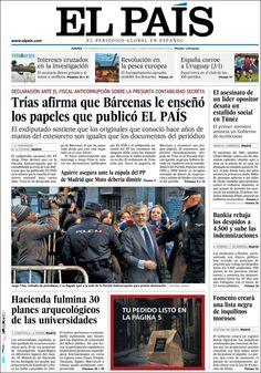 Los Titulares y Portadas de Noticias Destacadas Españolas del 7 de Febrero de 2013 del Diario El País ¿Que le parecio esta Portada de este Diario Español?