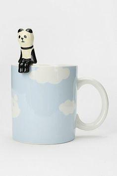 Cloud Mug And Spoon Set-cute,but looks like pandas debating suicide-looks sad sitting on the edge.lol