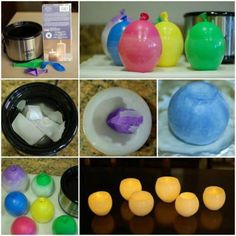 Velas con globos, excelente idea de manualidad, busca más en http://www.1001consejos.com/