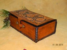 Handmade Leather Box Sheridan Floral Flowers Style by dakotagypsy