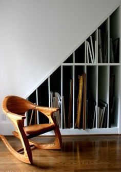 Love both the chair and storage.
