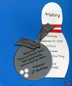 Bowling Party invite #bowling