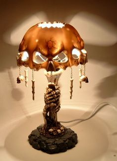 Fantasy | Whimsical | Strange | Mythical | Creative | Creatures | Dolls | Sculptures | Skull lamp