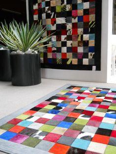 Multicolor Patchwork rugs  www.tapijtenenhuiden.com