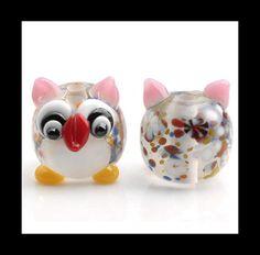 15 MM Handcrafted Glass BeadsBurlesque by Girljewelrybox on Etsy