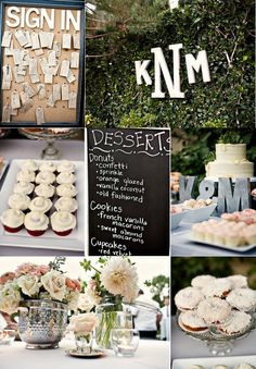 Neat idea - lots of different desserts instead of a big traditional cake.