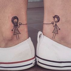 Connecting Ankle Tattoos for Sisters