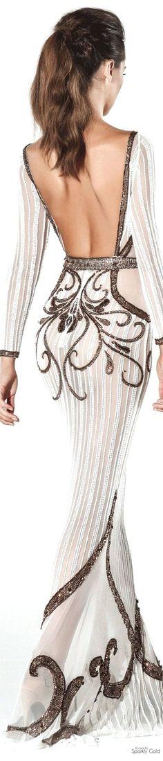 Charbel Zoé Spring 2016 Couture Notes: Wide open back. Lace Dresses, Elegant Dresses, Pretty Dresses, Sexy Dresses, Short Dresses, Wedding Dresses, Fashion Dresses, Prom Dresses, Evening Dress Long