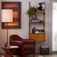 Maryland Living room or office/sitting room - Mid-Century Wall Shelving + Cabinet Set Mid Century Bookshelf, Mid Century Desk, 60s Furniture, Entryway Furniture, Furniture Cleaning, Furniture Storage, Furniture Ideas, Living Room Chairs, Living Room Furniture