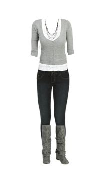 WetSeal.com Runway Outfit:  Gray by Pretty Simple. Outfit Price $80.25