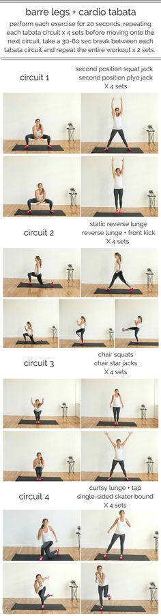 barre legs + cardio tabata | www.nourishmovelove.com