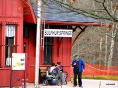 Reconstructed Railroad Station at Sulphur Springs in the Dundas Valley