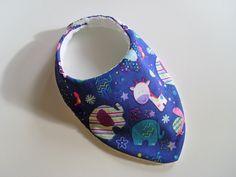Bavoir bandana anti bavouille de bébé, motif animaux enfantins : Mode Bébé par zekoualamachine
