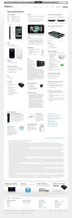 Apple - iPhone - Technical Specifications (11.06.2008)