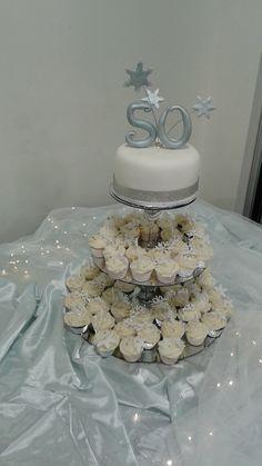 Winter Wonderland - 50th Birthday celebration 50th Birthday, Birthday Celebration, Winter Wonderland, Create, Desserts, 50 Year Anniversary, 50th Anniversary, Deserts, Dessert