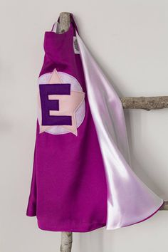 Super Hero Set personalized. Cape & Crown or Mask. Purple and
