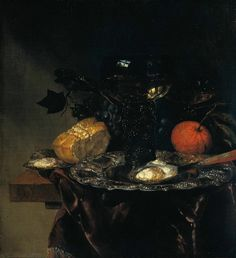 """27 января. """"Still life""""  (Rijksmuseum Amsterdam ) Abraham Hendriksz van Beijeren (ca. 1620 – March 1690) was a Dutch Baroque era painter. He was little regarded in his day but is now considered one of the greatest of still-life painters. Abraham Van Beijeren lived in a succession of Dutch towns. Born in The Hague, the artist also lived in Delft, Amsterdam, Alkmaar and Gouda. In 1678 he settled in Rotterdam, where he died in 1690."""