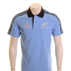 0e7382d9 Adidas New Zealand All Blacks Rugby Polo Shirt Blue, Black and Silver -  £35.00