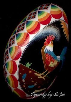 I want to make a rooster Ukranian egg.  I can't wait to do these