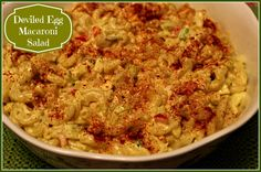 Sweet Tea and Cornbread: Deviled Egg Macaroni Salad!