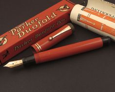 "Parker ""Big Red"" Duofold Fountain Pen. Classic."